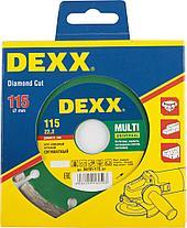 Круги отрезные алмазные DEXX универсальные, сегментные, для УШМ, фото 2
