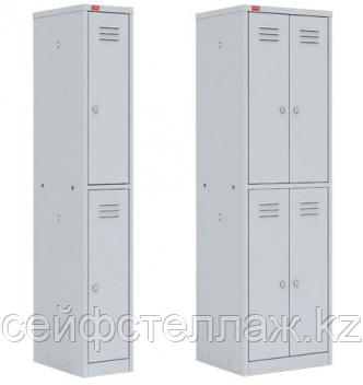 Металлический шкаф для одежды четырехсекционный