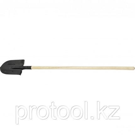 Лопата штыковая с ребрами жесткости, черенок 2С// Россия, фото 2
