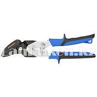 Ножницы по металлу PIRANHA,усиленные,255мм,прямой и правый рез,сталь-СrMo,двухкомпонентные рукояткиGROSS (002)
