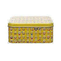 Жестяная коробка квадратная 15,6Х15,6 см.
