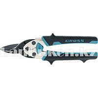 """Ножницы по металлу """"PIRANHA"""", 190мм, прямой рез, сталь-СrM, двухкомпонентные рукоятки GROSS (002)"""