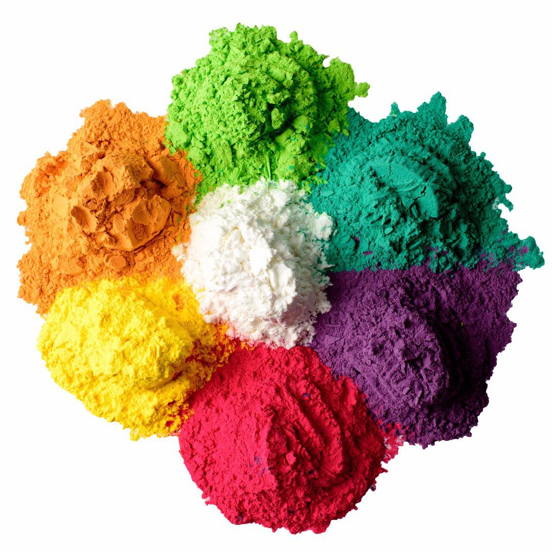 Краски фестивальные Холи (зеленый,фиолетовый,оранжевый,мятный)