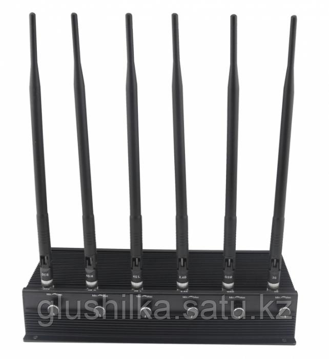 """Глушилка стационарная """"Пиранья Х6-4G"""" 18W, до 40 метров"""
