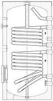 Бак ВТЕ-2 500 л, 2 теплообменника