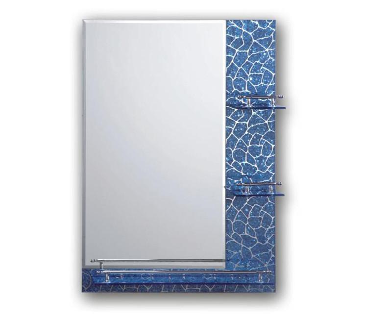 Зеркало настенное для ванной 391 никель