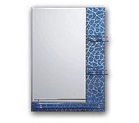 Зеркало настенное для ванной 58217 Бронза