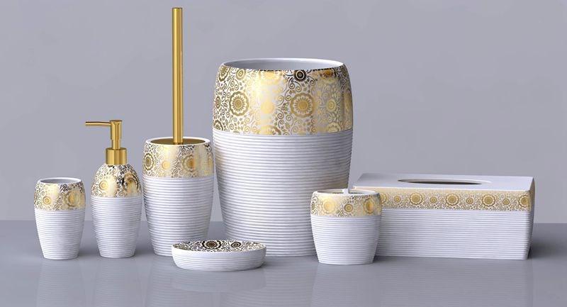 Набор аксессуаров для ванной желтый (мал.)