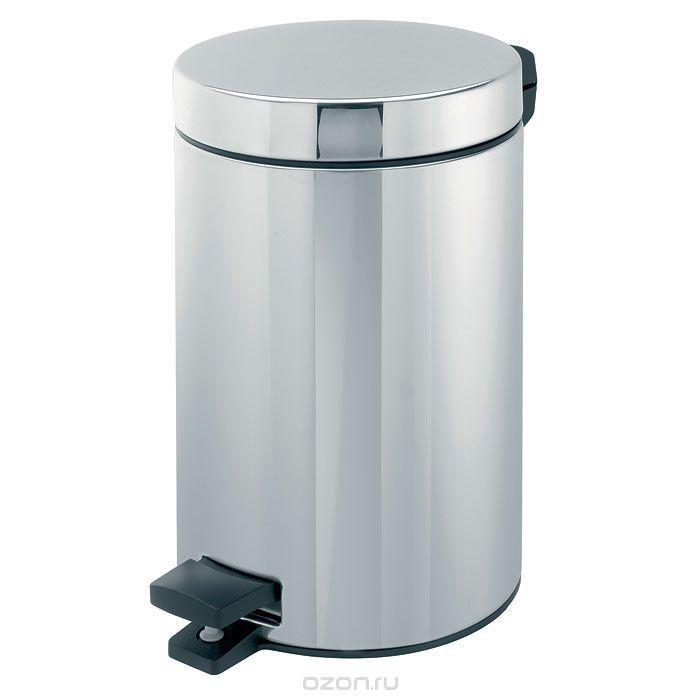 Урна для туалета хром (ведро) 3L
