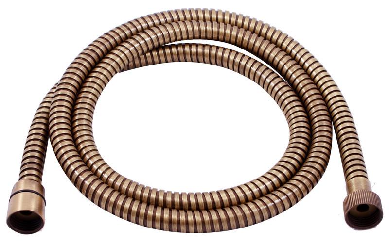 "LE8037B-Bronze ""Аксессуары"" Шланг для душа.двухзагибный 1,5 м, TURN FREE латунь, покрытие ""Бронза"" блистер"