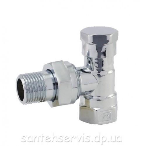 Кран радиатор Хром FADO-15 угловой нижний