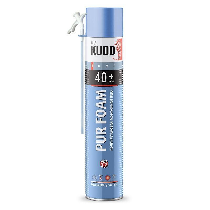 Пена полиуретановая монтажная бытовая всесезонная KUDO HOME 40+