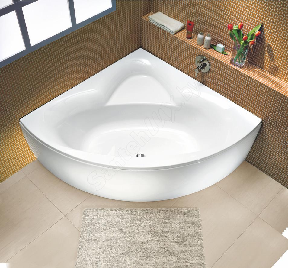 Ванна мрамор Apollon 150*100 L цвет с фарт.