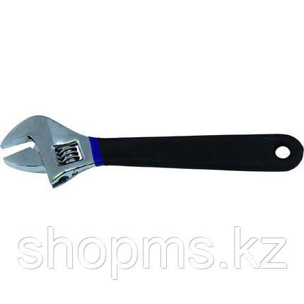Ключ разводной, антискользящее покрытие рукоятки 250 мм, фото 2