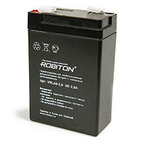 Аккумулятор ROBITON VRLA6-2,8  6V 2.8Ah