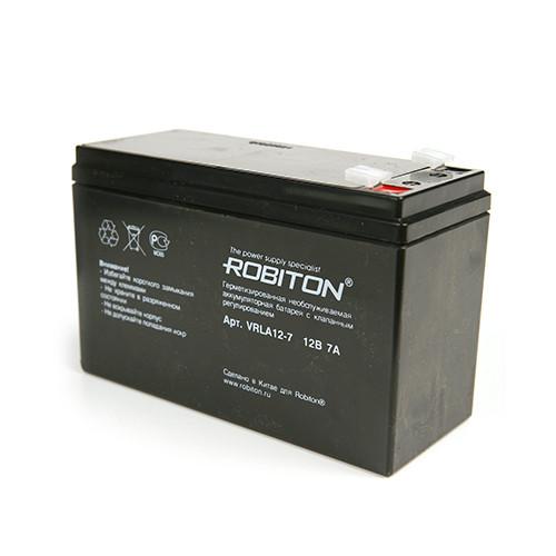 Аккумулятор ROBITON VRLA12-7  12v 7AH для UPS