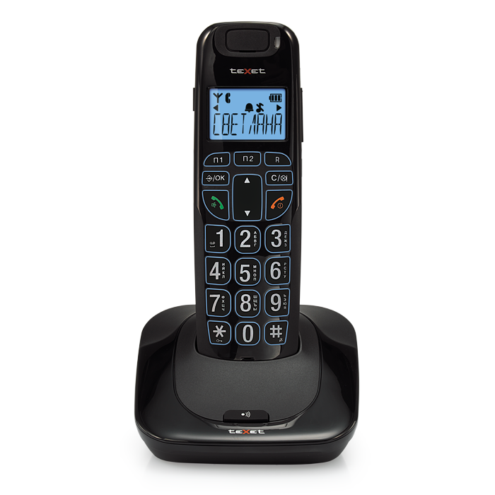 Бесшнуровой телефонный аппарат teXet TX-D7505А (черный)