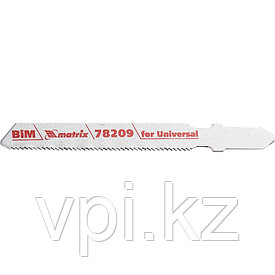 """Полотна для электролобзика, по металлу, """"Bimetal"""",  T118AF, 1.2*55мм, 3шт. Matrix Professional"""