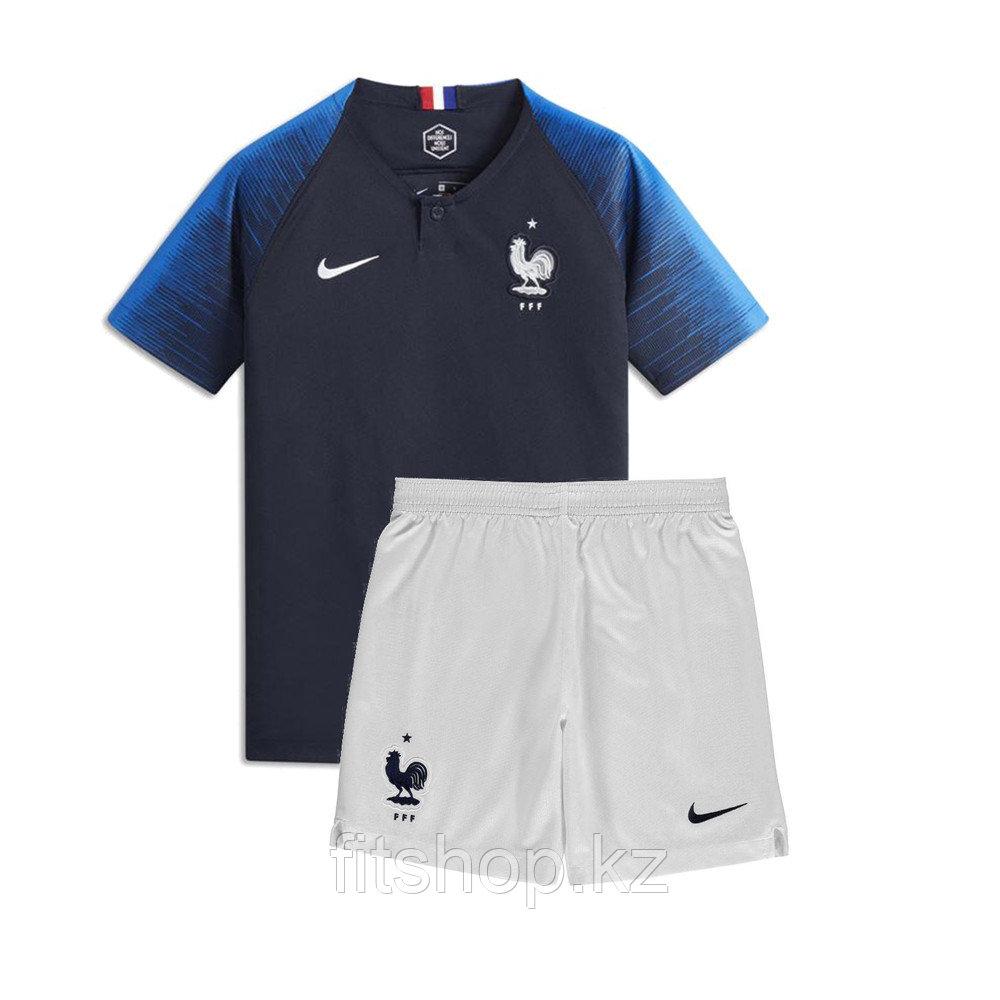 Детская футбольная форма сборной Франции Чемпионат Мира 2018.