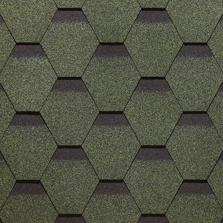 Копия Гибкая кровля Шинглас зеленый (нарезка соты)