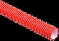 Труба гофр.двустенная ПНД/ПВД d40 красная (50м), фото 1