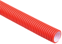 Труба гофр.двустенная ПНД/ПВД d75 красная (50м), фото 1