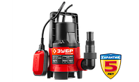 Насос Зубр М1 погружной, дренажн для грязн воды (d частиц до 35 мм), 550Вт, пропускн способность 160л/мин, фото 1