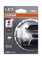 Светодиодные лампы W5W Osram Standart Red (2шт.) - 2880R-02B