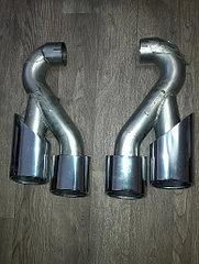 Хром насадки на выхлопные трубы (к-т) 955 Porsche Cayenne TURBO 2003-2010 (NEW)