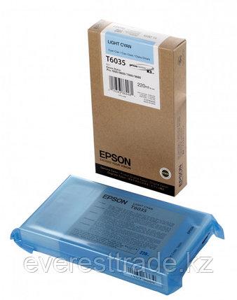 Картридж Epson C13T603500 SP-7880/9880 светло-голубой, фото 2