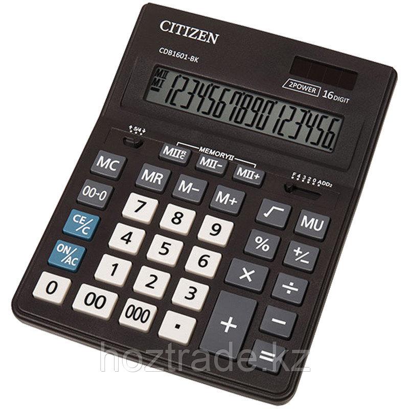 Калькулятор настольный Citizen Business Line CDB 16 разрядный, двойное питание