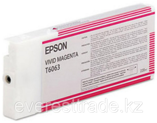 Картридж Epson C13T606300 SP-4880 пурпурный, фото 2