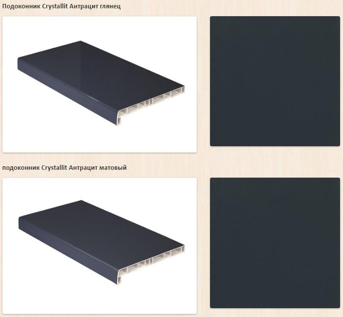 Пластиковый Подоконник Crystallit Антрацит 60см