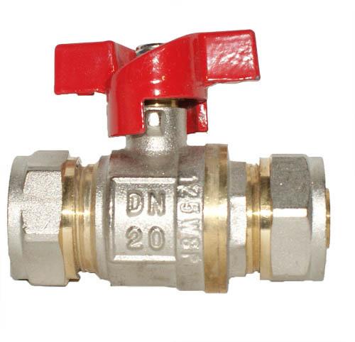 Кран Фитинг для металлопластиковых труб КТМ - 20*1/2 труба/труба