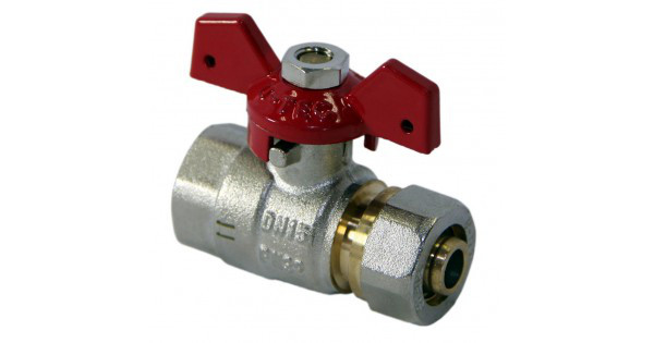 Кран Фитинг для металлопластиковых труб КТМ - 25 *1 труба/внутренний