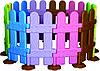 Ограждение детской территории цветные
