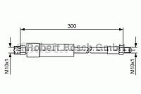 BOSCH Тормозной шланг BMW: 520-760, 1.8-6.0, (03-07) задний