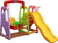 Детский игровой комплекс с горкой и качелей QC-05021