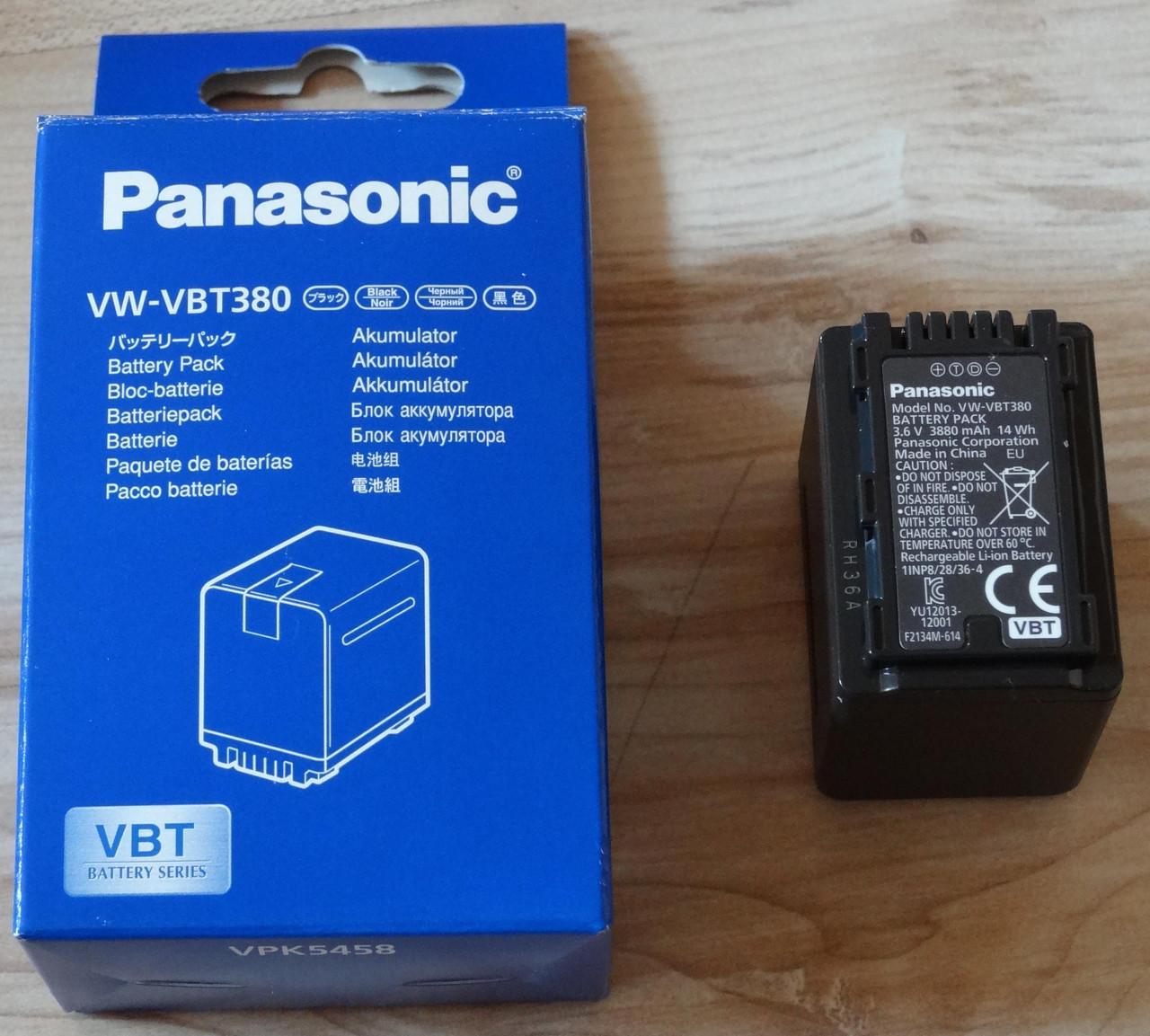 Аккумулятор Panasonic VW-VBT-380