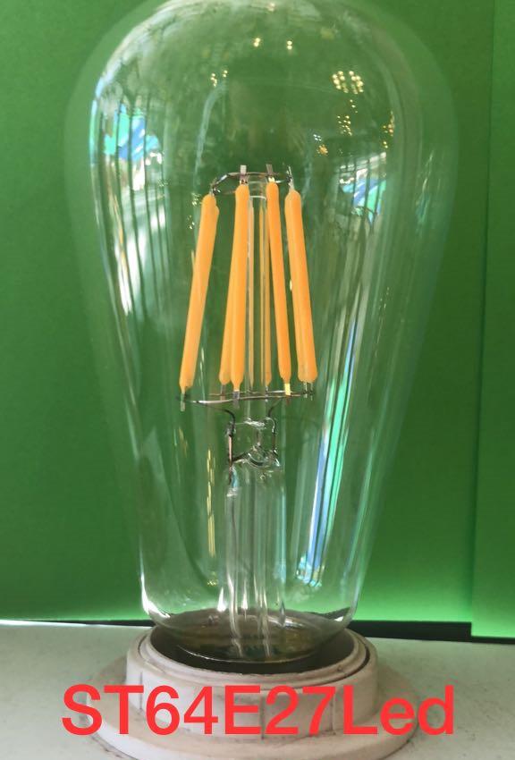 Лофт-лампа Эдисона ST64 Filament Led 6W E27