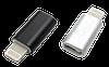 Переходник MicroUSB F - Lightning M, металлический