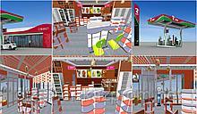 Дизайн АЗС. магазинов, бутиков, гостиниц, саун, парков, зон отдыха в Астане и Алматы
