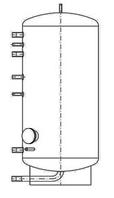 Бак ВТН-3, 750 л из нержавеющей стали
