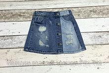 Джинсовая юбка на клепках