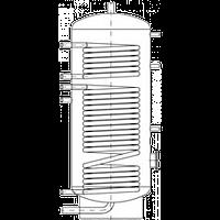 Бак ВТН-1, 1000 л из нержавеющей стали, 2 теплообменника, промышленный