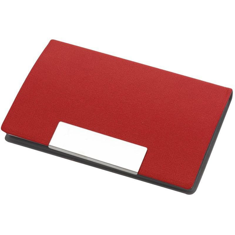 Визитница ATLAS с магнитной застежкой красный
