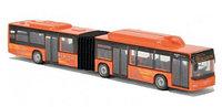 Автобусы Модели инерционные металлические 19 см, оранжевые