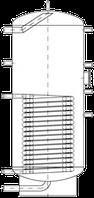 Бак ВТН-2, 300 л из нержавеющей стали, 1 длинный теплообменник