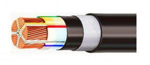 Кабель алюминевый с изоляцией из полиэтилена АВБбШВ 5х  4   ГОСТ, фото 2