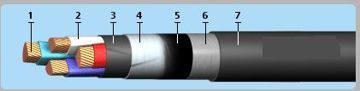 Силовой бронированный кабель ВБбШв 4х  2,5нг  ГОСТ, фото 2